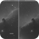 "IC434 - RASA and 6"" Achromat Hα comparison - Final image with 6"" refractor PLRGB,                                Uwe Deutermann"