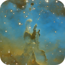 M16 Eagle Nebula Crop from my image of the 26 June 2014,                                Benoit Gagnon