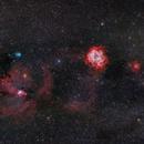 Rosetta and Cone nebulae friends,                                Guillermo Gonzalez