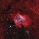 Sh2-135 Inkspot Nebula with Ha and SII,                                Maciej