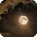 Full  Moon in Clouds 6-5-20,                                Tom Robbe