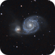 M51 - The Whirlpool Galaxy,                                Valentin Thélier