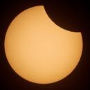 Partial solar eclipse on 10/06/2021,                                Łukasz Żak