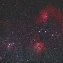 Flame and other nebulas in Auriga,                                Nikolay Vdovin