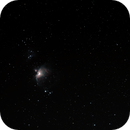 The Great Orion Nebula - comparison with non-modified full frame,                                skyace