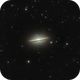 M104 - The Majestic Sombrero Galaxy,                                Blackstar60