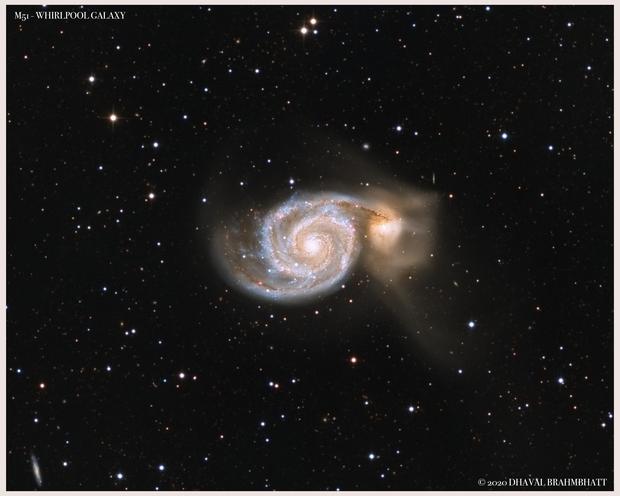 M51 - Whirlpool Galaxy (L+HaRGB),                                Dhaval Brahmbhatt