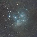 M45 - The Pleiades Nebula,                                S. DAVID