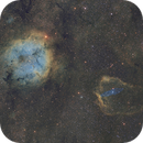 Nebulae in Cepheus: modified SHO palette,                                meeus