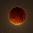 Moon eclipse and stars,                                Roberto Ferrero