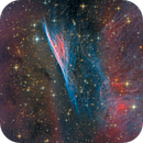 Pencil Nebula from DeepSkyWest Chile, a SW processing competition, my final version,                                Niels V. Christensen