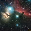 IC434 + NGC2024 - NEBULOSA CABEZA DE CABALLO - NEBULOSA DE LA FLAMA,                                Manuel José Francisco Agudo