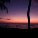 New Moon setting from South Kohala, Hawaii,                                Tom Robbe