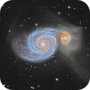 M51 in LRGB-HA - High definition,                                Vincent F