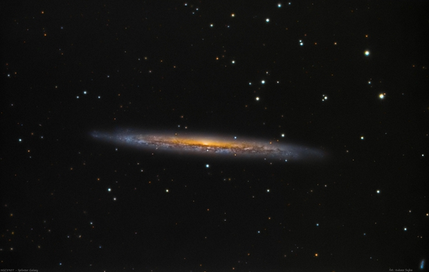 NGC 5907 - Splinter Galaxy in Draco,                                Łukasz Sujka