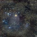 Hyades Cluster and Interstellar Nebula,                                neilcreek