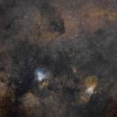 M8 & M16 - Hubble Palette,                                Darius Kopriva