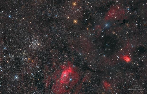 Bubble nebula and friends,                                -Amenophis-