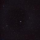 M51 (Whirlpool galaxy) wide field / Canon 100Da+Samyang 135mm f/2.0 / mix 2 series spring 2018,                                  patrick cartou