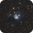 NGC 7129 with Open Cluster NGC 7142,                                pmneo