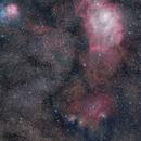 Mosaic Triplet Sagitarius BIG MOSAIC Messier 8 Messier 20 Lagoon Trifid Nebula,                                  Maicon Germiniani