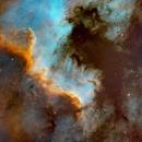 The Great Wall - NGC7000 in Cygnus  -Version 2,                                Arnaud Peel