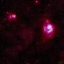 Lagoon & Trifid Nebula's,                                Ivan Hancock