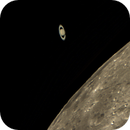 Saturn reappears from behind the Moon,                                P-K