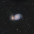 M51 -SVA130 First Light,                                Bob J