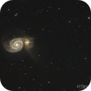 M51: Whirlpool galaxy and companion HaRGB,                                  Arvind H.