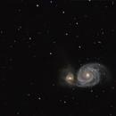 M51a/b - Whirlpool Galaxy,                                Bob Stewart