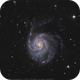 M 101 -  Galaxie du moulinet ( Pinwheel galaxy ).,                                Jeffbax Velocicaptor