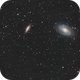 M81 & M82 Bode's galaxies more exposure / Canon 600D + SW 80ED PRO / SW EQ M-35 / SIRIL 0.9.12,                                patrick cartou