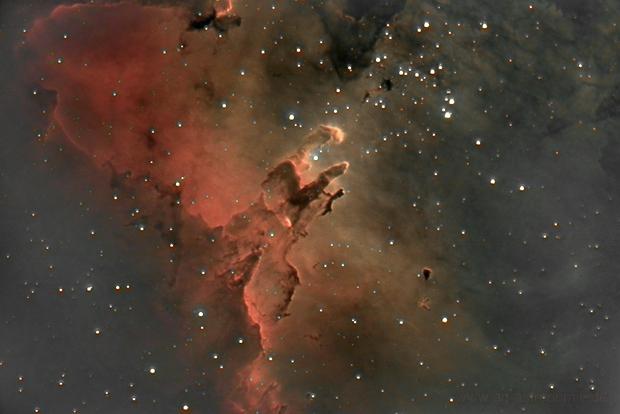 Pillars of creation in Eagle Nebula (Messier 16),                                Henning Schmidt