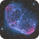 NGC 6888 in HOO with OSC camera experiment,                                Cedric Raguenaud