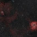 NGC2239 & NGC2264: Rosette Nebula together with Cone Nebula,                                SpacemanSpiff