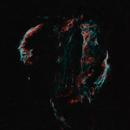 Veil nebula, galactic volutes in edge of universe (starless Ha/OIII_HOO),                                *philippe Gilberton