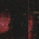 Monkey Head Nebula NGC 2174           plus  Nuwa (150 ) , Europa ( 52 ),                                webeve