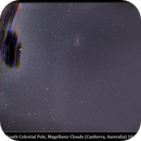 South Celestial Pole & Magellanic Clouds from Light Polluted Canberra, 18 Nov 2013,                                David Dearden