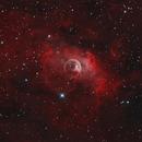 Bubble Nebula - NGC7635 in HOO + RGB STARS,                                Martin Dufour
