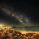 Hvar Island ¦ Milky Way and Third Quarter Moon,                                Carlos 'Kiko' Fai...