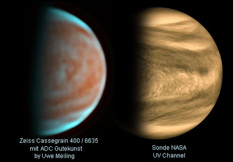 Venus 12.03.2020-compared to NASA probe,                                Uwe Meiling