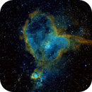 Heart Nebula  ( HST palette),                                Craney