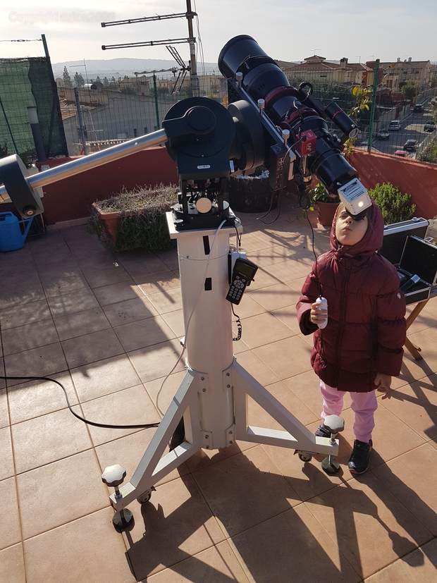 My daughter & the Lzos 130 F6,                                Alessandro Bianconi