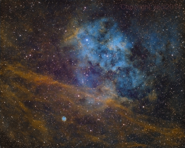 SH2-115 with Abell 71,                                Jens Zippel