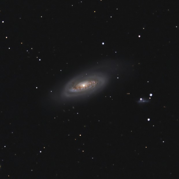 """M90 - combined 16""""RC and C9.25 data,                                Carsten Dosche"""