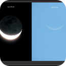 Moon in two instants,                                tavaresjr