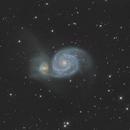 m51 whirlpool galaxy less processed,                                Aenima666