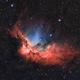 Wizard Nebula NGC7380 Bicolor,                                Bogdan Jarzyna