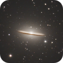 Experimenting with M104 Sombrero Galaxy LRGB,                                Brandon Tackett